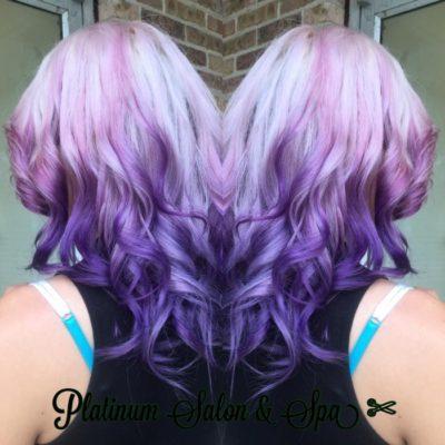 Blonde & Purple Ombre