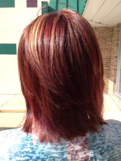 Red Hair with Blonde Highlights Burlington