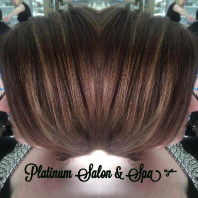 Highlighted Bob Hair cut and color Burlington