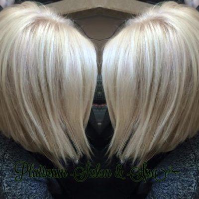 Blonde Bob Hair Cut and Color Burlington