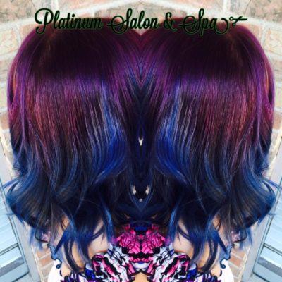 Purple and Blue Hair Treatment Burlington