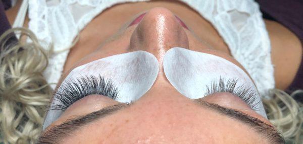 Eyelash Extensions in Progress