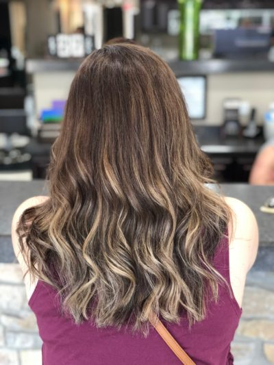 Hair Color Beige Balayage